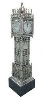 Casa Padrino Luxus Standuhr Tower Silber / Schwarz 20 x 20 x H. 85 cm - Luxus Deko Accessoires