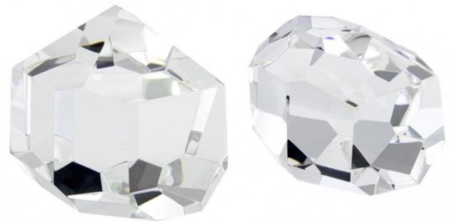 Casa Padrino Luxus Deko Objekte Set - Hotel Restaurant Wohnzimmer Büro Kristallglas Dekoration