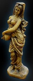 Casa Padrino Jugendstil Wasserspeier Frau mit Krug Ø 26 x H. 80 cm - Barock & Jugendstil Gartendeko