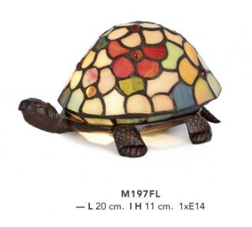 Casa Padrino Tiffany Decoleuchte Schildkröte Bunt Mod2 Durchmesser 20cm Leuchte Lampe
