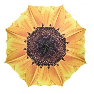MySchirm Designer Regenschirm mit schönem Sonnenblumenmotiv - Eleganter Stockschirm - Luxus Design - Automatikschirm - Vorschau 2