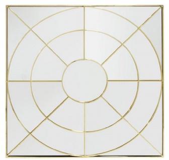 Casa Padrino Luxus Wandspiegel Gold 102 x H. 102 cm - Edelstahl Spiegel - Luxus Möbel