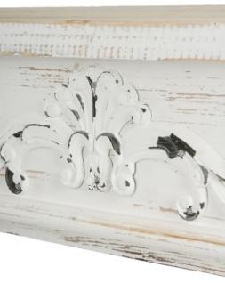 Casa Padrino Landhausstil Shabby Chic Kaminumrandung Antik Weiß 115 x 23 x H. 100 cm - Handgefertigte dekorative Kaminumrandung mit Verzierungen - Vorschau 4