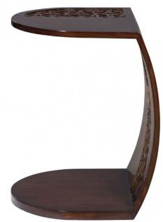 Casa Padrino Luxus Mahagoni Snack Tisch / Beistelltisch Dunkelbraun 42 x 43 x H. 55 cm - Luxus Möbel - Vorschau 2