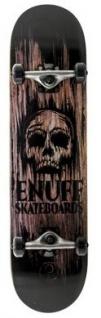 Enuff Skateboard Komplettboard Skull Natural 7.75 x 31.75 inch - Profi Complete Skateboard