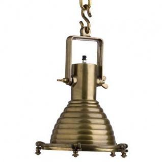 Casa Padrino Hängeleuchte Deckenleuchte Messing Industrial Design 35 x H 48 cm - Industrie Lampe Leuchte Industrieleuchte