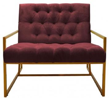 Casa Padrino Luxus Chesterfield Sessel 84 x 87, 5 x H. 80 cm - Verschiedene Farben - Chesterfield Möbel