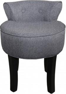 Casa Padrino Designer Hocker Boston Grau / Schwarz - Barock Schminktisch Stuhl