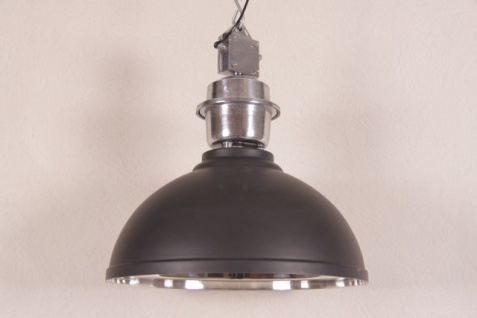 Casa Padrino Vintage Industrie Hängeleuchte Matt Anthrazit Metall Durchmesser 52 cm - Restaurant - Hotel Lampe Leuchte - Industrial Leuchte