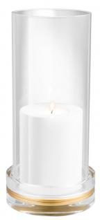 Casa Padrino Luxus Kristallglas Kerzenleuchter 14 x H. 30 cm - Designer Wohnzimmer Accessoires