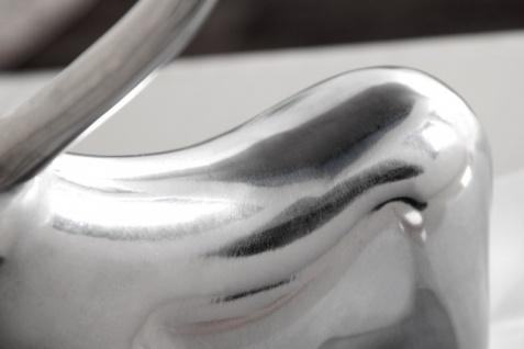 Casa Padrino Designer Aluminium Figur Bulle - Alu Dekoration massive Skulptur - Briefbeschwerer Börse Börsenbulle - Vorschau 5