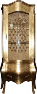Casa Padrino Barock Vitrine Gold - Möbel Antik Stil