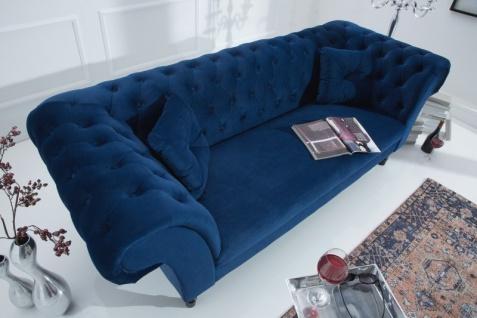 Casa Padrino Chesterfield Sofa in Blau 225 x 90 x H. 79 cm - Designer Chesterfield Sofa - Vorschau 4