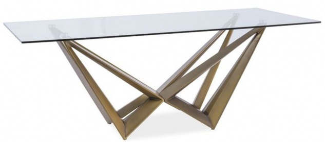 Casa Padrino Designer Esstisch mit Glasplatte Braun 200 x 100 x H. 76 cm - Luxus Esszimmer Möbel