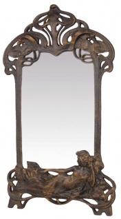 Casa Padrino Jugendstil Gusseisen Schminkspiegel Bronze 28, 7 x H. 49, 6 cm - Barock & Jugendstil Möbel