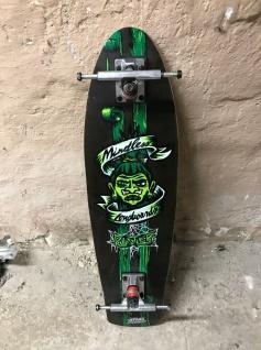 Mindless Voodoo Longboard Deck Rustler Green mit Achsen - 1B Ware mit Lagerspuren