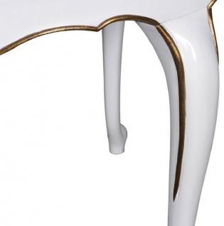 Casa Padrino Luxus Barock Esstisch Dunkelbraun / Weiß / Gold 207 x 114 x H. 78 cm - Ovaler Mahagoni Küchentisch - Barock Esszimmer Möbel - Luxus Qualität - Vorschau 3