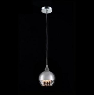 Casa Padrino Jugendstil Decken Hängelampe Nickel 15 x H 100 cm Antik Stil - Möbel Lüster Leuchter Deckenleuchte Hängelampe