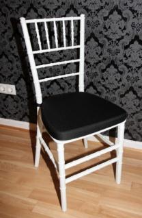 Casa Padrino Designer Acryl Stuhl inkl Sitzkissen Weiß/Schwarz - Ghost Chair white - Polycarbonat Möbel - Polycarbonat Stuhl - Acryl Möbel - Geisterstuhl