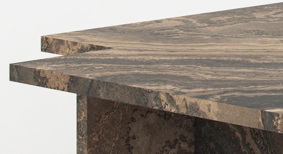 Casa Padrino Luxus Marmor Couchtisch Beige / Grau / Schwarz 95 x 95 x H. 35 cm - Edler Wohnzimmertisch aus hochwertigem Eramosa Marmor - Luxus Wohnzimmer Möbel - Vorschau 2