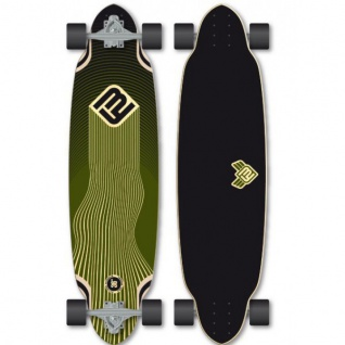 Flying Wheels Longboard Foil Cruiser Komplettboard 36.0 x 9.5 inch Carver - Special Edition mit Koston Kugellagern