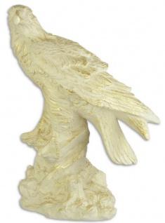 Casa Padrino Deko Skulptur Adler Cremefarben / Gold 42, 7 x 25, 7 x H. 59 cm - Polyresin Dekofigur