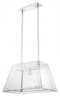 Casa Padrino Kronleuchter Silber 61 x 40 x H. 36 cm - Luxus Wohnzimmer Möbel