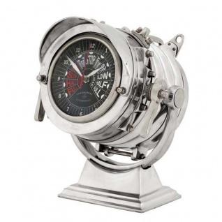 Casa Padrino Designer Luxus Tisch Uhr Royal Marine - Eyecatcher Seefahrer Uhr - ohne Frontglas
