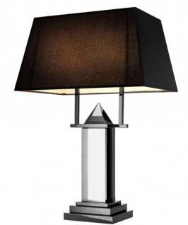Casa Padrino Luxus Tischleuchte Schwarz Nickel - Luxury Collection