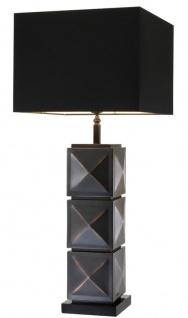 Casa Padrino Luxus Tischleuchte Antik Bronze 18 x 40 x H. 93 cm - Hotel Tischlampe