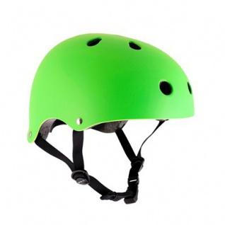 SFR Skateboard / Scooter / Inliner / BMX / Rollschuh Schutz Helm - Neon Grün - Skateboard Schutzausrüstung