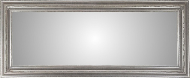 Casa Padrino Antik Stil Wandspiegel Silber 202 x H. 84 cm - Barock Wohnzimmer Möbel