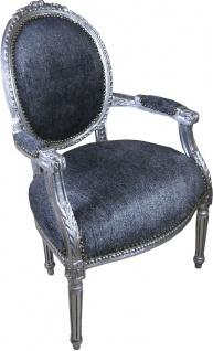 Casa Padrino Luxus Barock Medaillon Salon Stuhl Grau / Antik Silber - Möbel Antik Stil - Vorschau 2