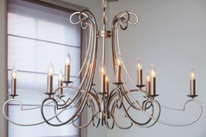 Casa Padrino Barock Decken Kronleuchter Silber Durchmesser 112 x H 65 cm Antik Stil - Möbel Lüster Leuchter Deckenleuchte Hängelampe - Vorschau 2