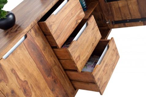 Casa Padrino Fernsehkommode 145 cm - Fernsehschrank - Sideboard - Handgefertigt aus Massivholz! - Vorschau 5