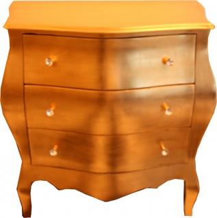 Casa Padrino Barock Kommode Gold 103cm mit 3 Schubladen - Antik Stil Möbel Wohnzimmer