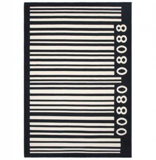 Casa Padrino Designer Teppich 160 x 220 cm Barcode - Läufer