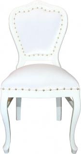 Barock Luxus Esszimmer Stuhl Louis Weiß / Weiß - Hotel & Restaurant Bestuhlung