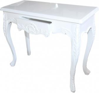 Casa Padrino Barock Konsolentisch Weiss mit Schubladen Damen Schminktisch - Antik Stil - Barock Möbel - Vorschau 4