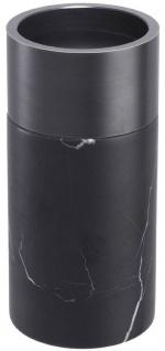 Casa Padrino Luxus Kerzenhalter Set Schwarz / Bronzefarben - 3 runde Marmor Kerzenhalter - Luxus Qualität - Deko Accessoires - Vorschau 3