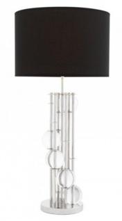 Casa Padrino Luxus Tischleuchte Nickel Durchmesser 20 x 43 x H 85 cm - Leuchte - Tischleuchte