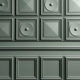 Casa Padrino 3D Paneel Weiß 33, 3 x 3, 5 x H. 33, 3 cm - Wandpaneel - Deckenpaneel - Wanddeko im Barockstil - Vorschau 2