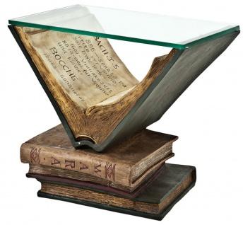 Casa Padrino Luxus Wohnzimmer Beistelltisch 55 x 40 x H. 51, 5 cm - Designer Möbel Buch Design Tisch Old Books