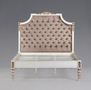 Casa Padrino Luxus Barock Bett Antik Weiß Gold - Louis XIV Französisches Luxus Bett
