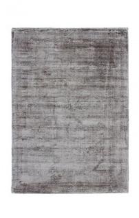 Casa Padrino Designer Teppich Vintage Look Viscose Silber Grau - Handgefertigt - Möbel Teppich