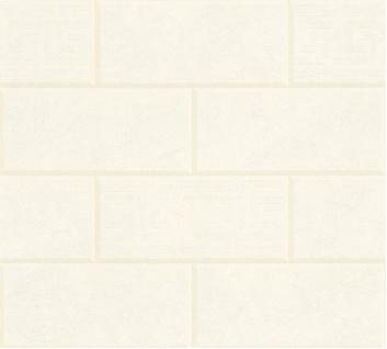 Versace Designer Vliestapete Via Gesu 343222 in Steinoptik Creme - Design Tapete - Luxus Deko Accessoires