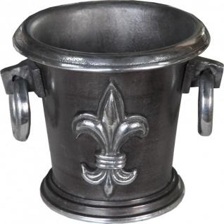 Casa Padrino Barock Weinkühler Antik Silber H 19 cm, Durchmesser 22 cm - Weinhalter Hotel Dekoration