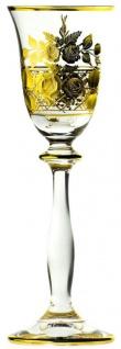 Casa Padrino Luxus Barock Likörglas 6er Set Gold Ø 5, 5 x H. 17 cm - Handgefertigte und handgravierte Likörgläser - Hotel & Restaurant Accessoires - Luxus Qualität