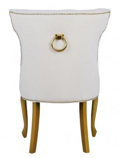 Casa Padrino Luxus Esszimmer Stuhl Barock mit Metall Rückenring - Luxus Qualität - ALLE FARBEN - Neo Classic Vintage Style Hotel Stuhl - Möbel - Vorschau 5