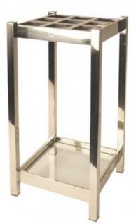 Casa Padrino Luxus Edelstahl Schirmständer Silber 30 x 30 x H. 70 cm - Luxus Accessoires
